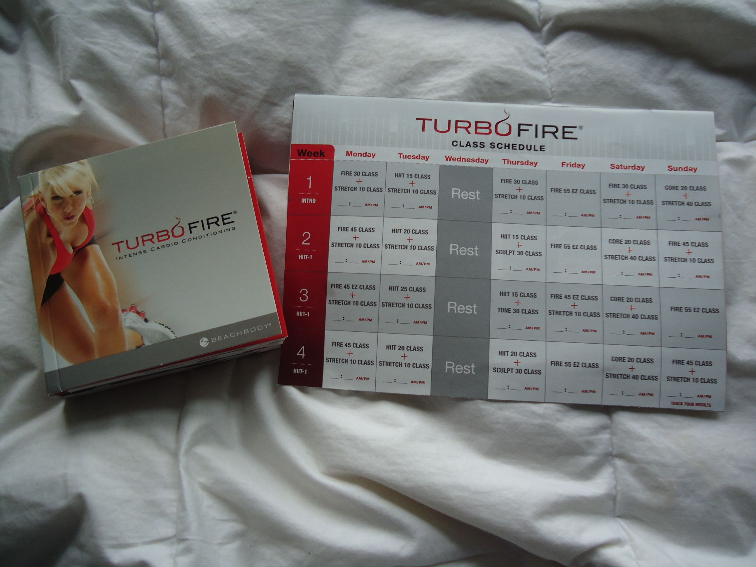 Turbo Fire Schedule Week 1 4 Started with turbofire and